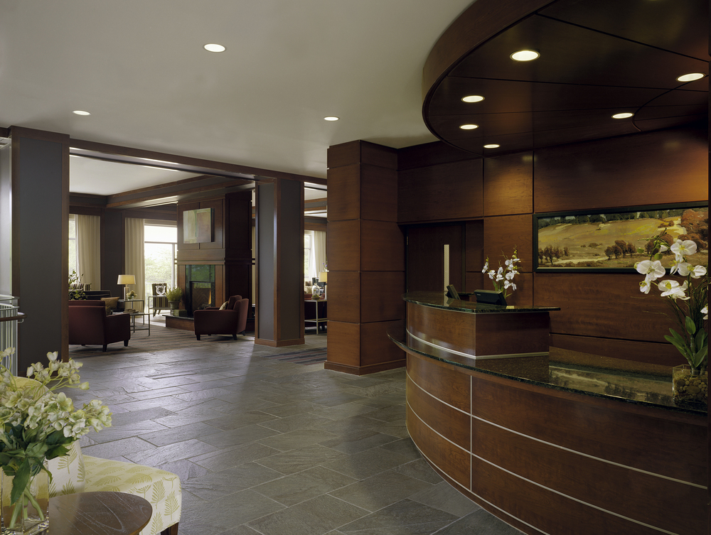 Lobby - Reception desk and Lounge beyond
