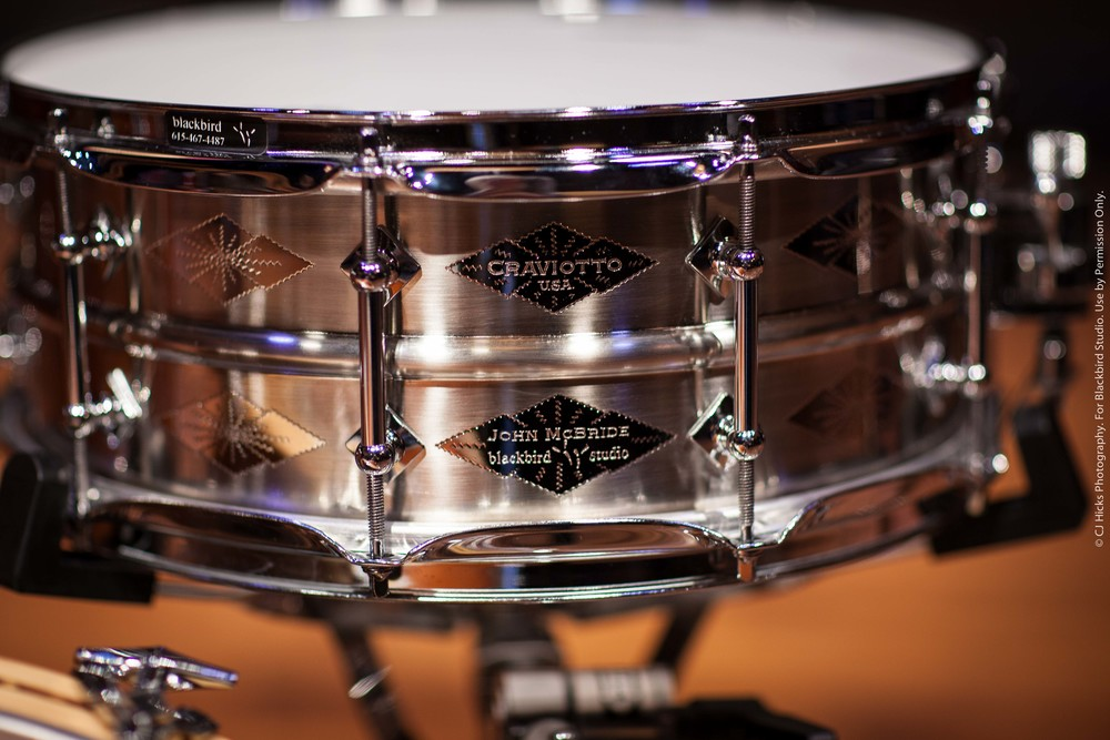 "Craviotto AK Diamond Nickel over Brass Custom Shop ""John McBride"" 5.5 x 14 Snare. Sounds amazing in any tuning."