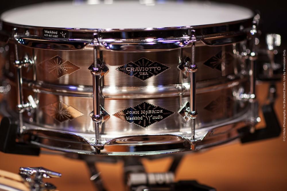 "Craviotto AK Diamond Nickel over Brass Custom Shop ""John McBride"" 5.5 x 14 Snare. Sounds amazing in any tuning."