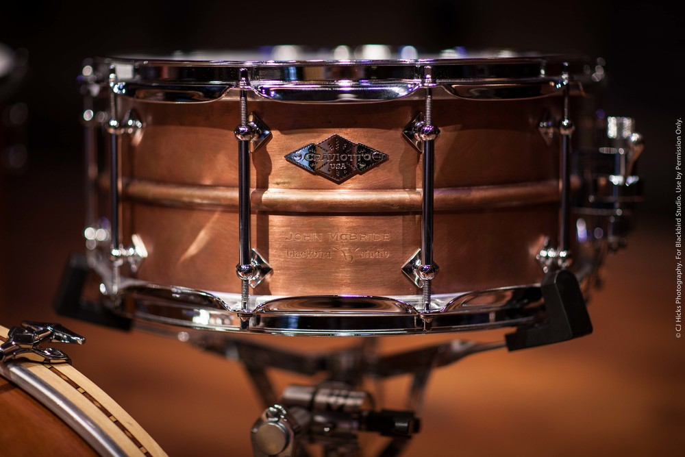 "Craviotto AK Diamond Copper Custom Shop ""Blackbird"" 6.5 x 14 Snare."