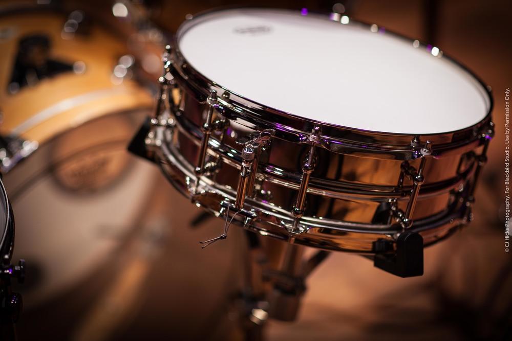 """""""Joyful Noise"""" Custom Blackbird 5 x 14 Seamless Brass/Bronze/Copper/Aluminum Shell. Solid Brass Hoops."""