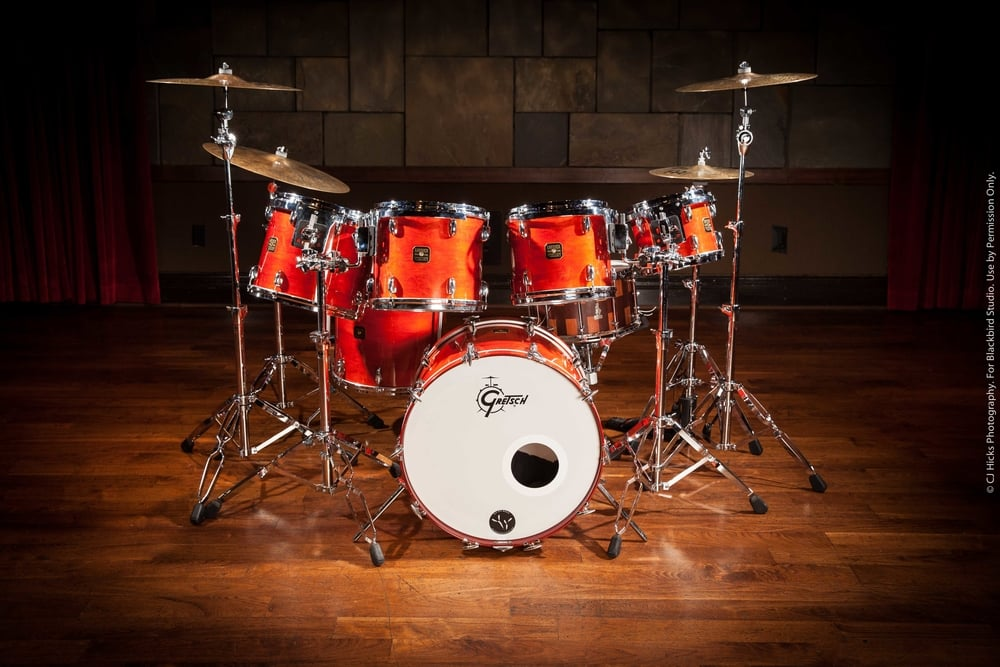 """1980's Gretsch USA Custom """"Burnt Orange"""". This is such a great drum kit! Several sizes to choose from. Great for any session or live gig."""