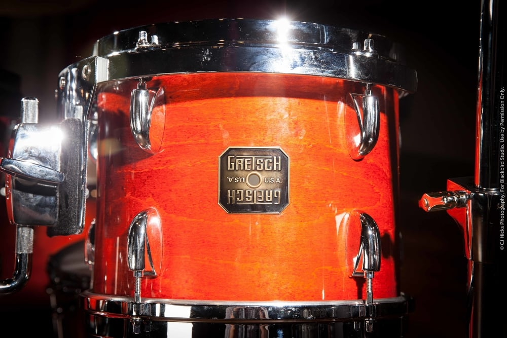 """1980's Burnt Orange Gretsch USA Customs. This is one of our best kits. That """"Great Gretsch Sound"""" in several sizes, perfect for any session."""