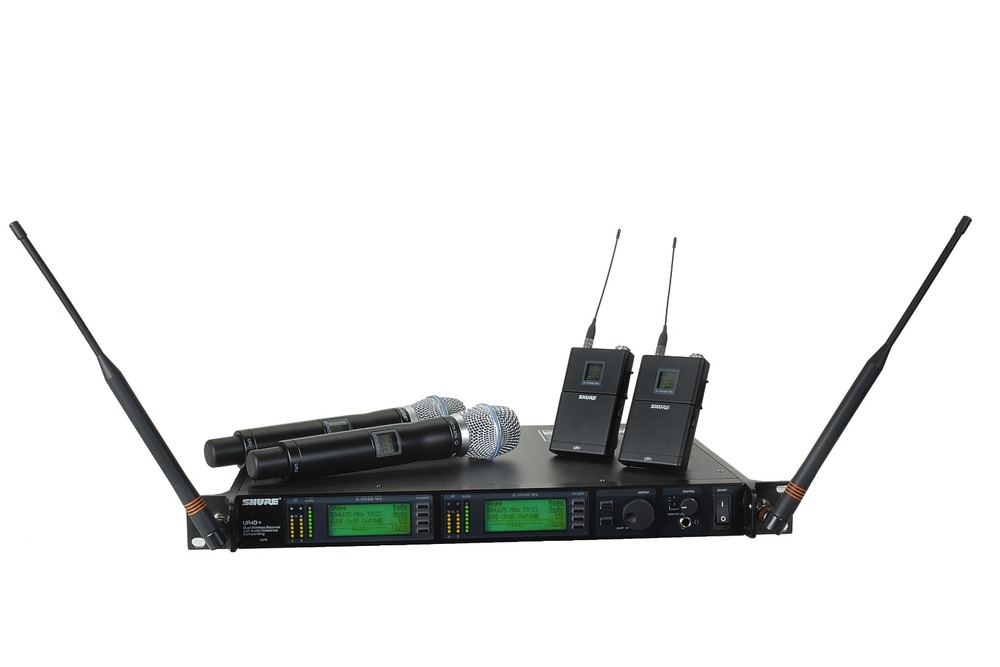 Shure URD4 Dual Wireless Rig/HH or Lav - $150 day