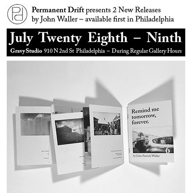July 28 – 29 910 N 2nd St. ⠀ ⠀ Hey Philadelphia! At the end of the month, we will be @gravy_studio selling pre-release copies of 2 new B&W photography titles: Remind Me Tomorrow Forever and A Chance That Nothing WIll Happen by @imjohnwaller We'll be hanging out during gallery hours, see you there!⠀ _⠀ _⠀ _⠀ _⠀ @risolve  @yumigoto  @gertigirl17 @benm004 #artbooks #photobooks #chapbooks #rarebooks  #photography #zines #letterpress #hardcover #riosgraph #foilstamp #35mm #filmscan #johnwaller #permanentdrift #gravystudio #nolibs #philadelphia #artgallery #photography #books #prerelease #preorder #presale