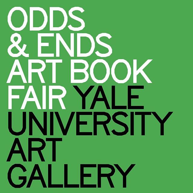 TO-DAY 11:30AM - 4:30PM / Odds & Ends Art Book Fair / Free and Open to the Public / #yaleartgallery #artbooks #photobooks #zines #risograph