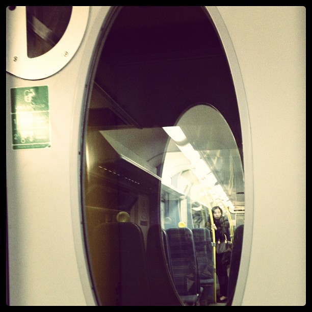 Girl on train…