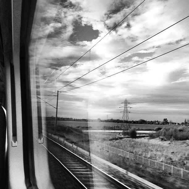 View from the train window. #midlans #trains #uk #landscapes