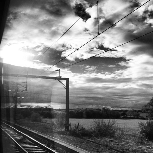 Somewhere in the midlands… #train #view #england