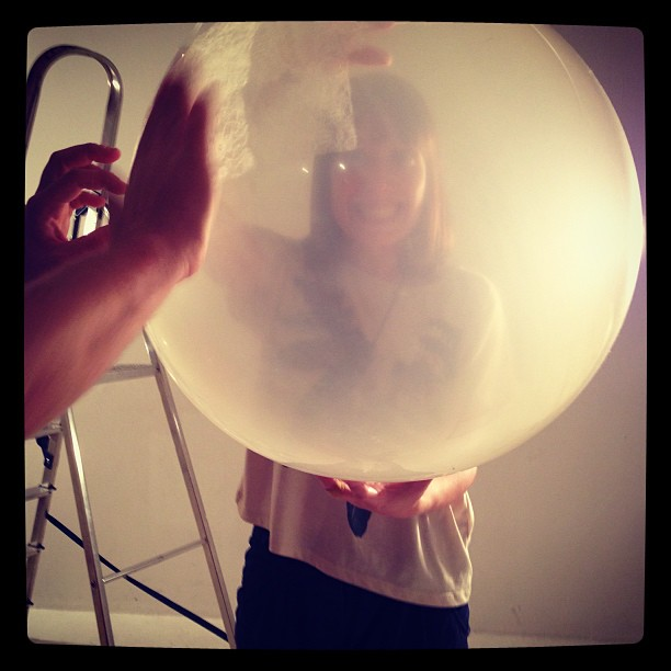 Editorial shoot tomorrow… Having fun. #ballon #fashion #studio #photography #london #diy
