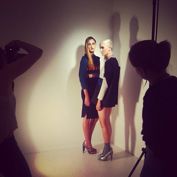 Second look of the day…lovely models. #fashion #photography #shoot #makeup #styling #editorial #lights #models #london #uk