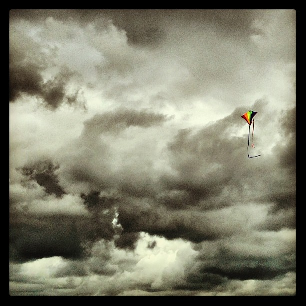 Colours in the grey sky… #sky #clouds #newforest #uk #dorset #kites