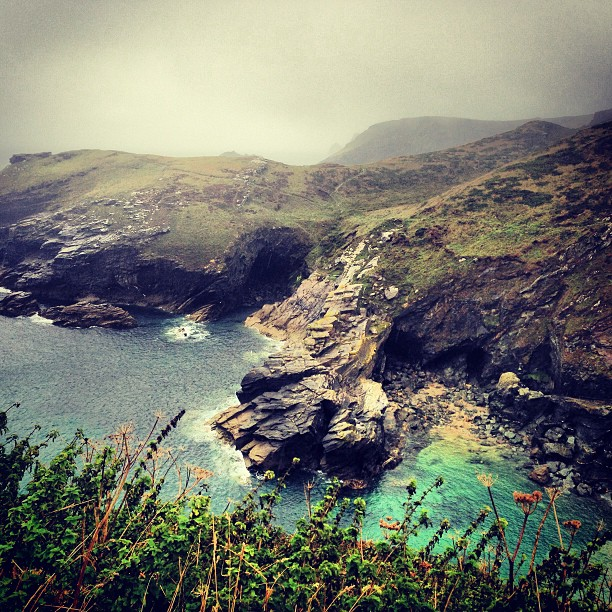 View from the castle. Tintagel. #travel #exploring #landscapes #coast #cornwall #photography