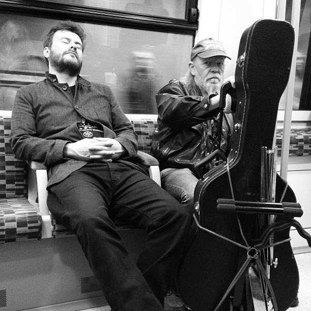 Rocking out in style! #east #london #tube #music #performance #style #rock&roll #photography