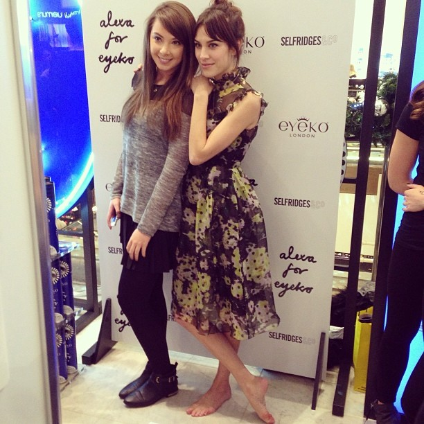 Last night shooting for Alexa Chung, took her heels of to make people feel good…#alexachung #eyeko #selfridges #london #photography