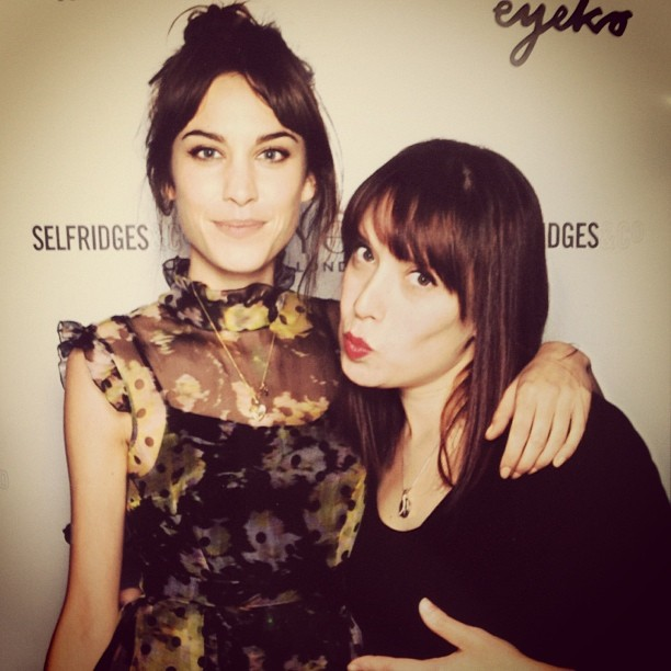Last night shooting for Alexa Chung… Lol I also had to have my photo taking! #alexachung #eyeko #selfridges #london #photography