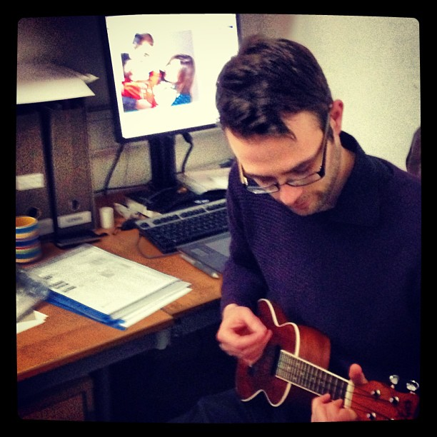 Ukulele Fridays at work… Lol