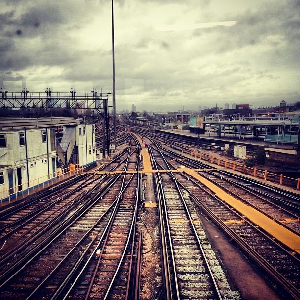 London train tracks.Clapham Junction #tracks #trains #commuting #travel #london #uk #photography #greyday
