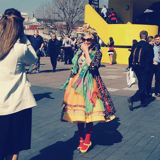 True fashion on the streets… Shooting at The Vogue Festival #london #voguefestival #style #fashion #street #photography #inspiration #festival #uk #people #girls #dresses
