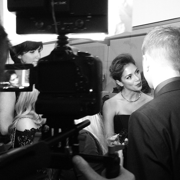 Shooting last night at the Cosmopolitan Ultimate Women Awards 2013 - behind the scenes with Nicole Scherzinger @NicoleScherzinger #NicoleScherzinger #photography #interview #awards #london #music #tv #entertainment #london #v&a #cosmopolitan #uk