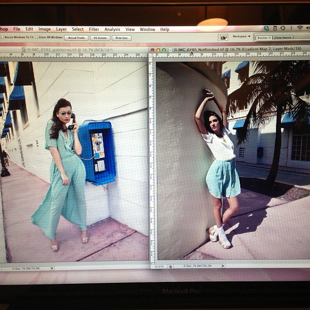 This 2 are done… About 10 more to go…. And after making a final selection for the portfolio… 😕 #models #elite #miami #editorial #fashion #photography #haaning&htoon #moo
