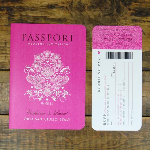 passport to love - booklet wedding invitation — ditsy chic, Wedding invitations