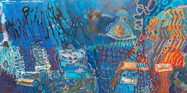 Bleu 60x120 cm, 2014