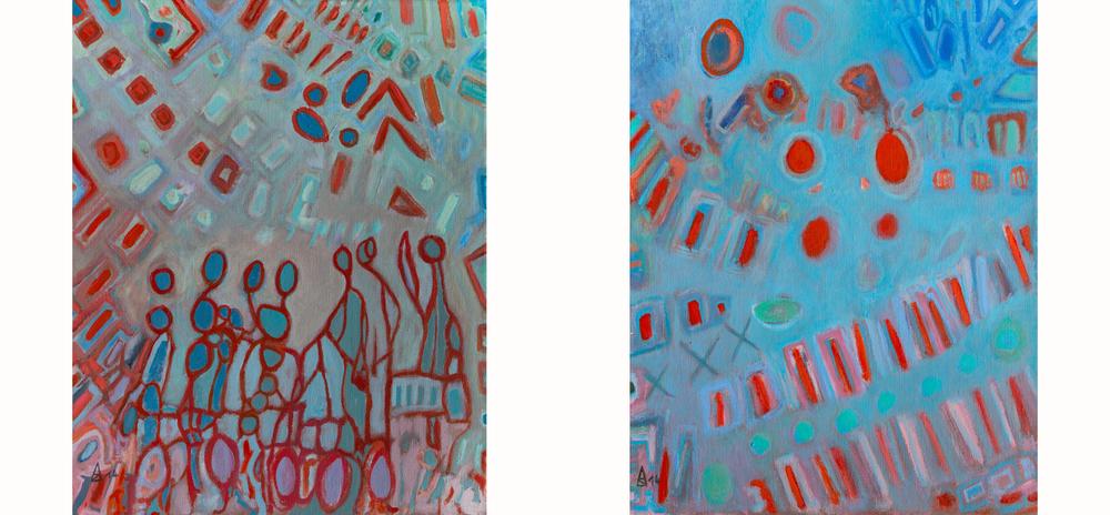 Murmures et chatiments I & II  41x33 cm, 2014