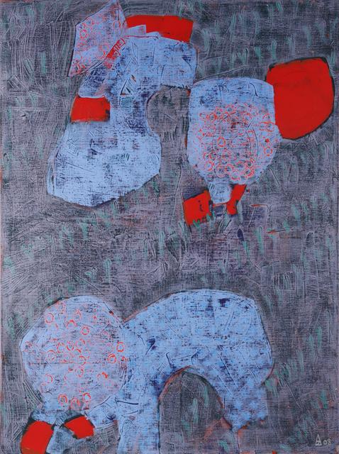 Blue red 130x97 cm, 2008