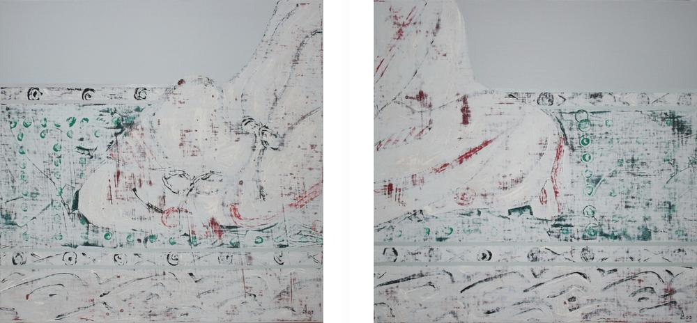 Gaku I & II  60x60 cm, 2009