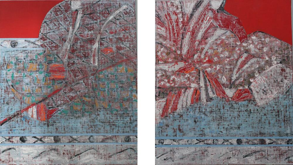 Rakosen III & IV 65x55 cm, 2009