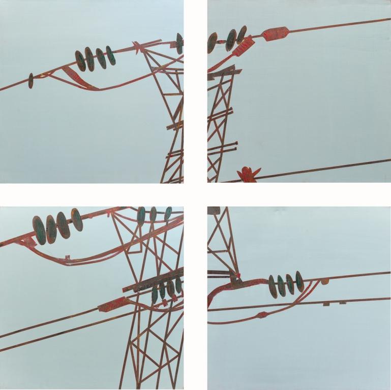 Power lines I,II,III & IV  80x80 cm, 2008