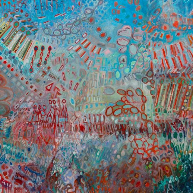 La vie ou la mort  130x130 cm, 2013