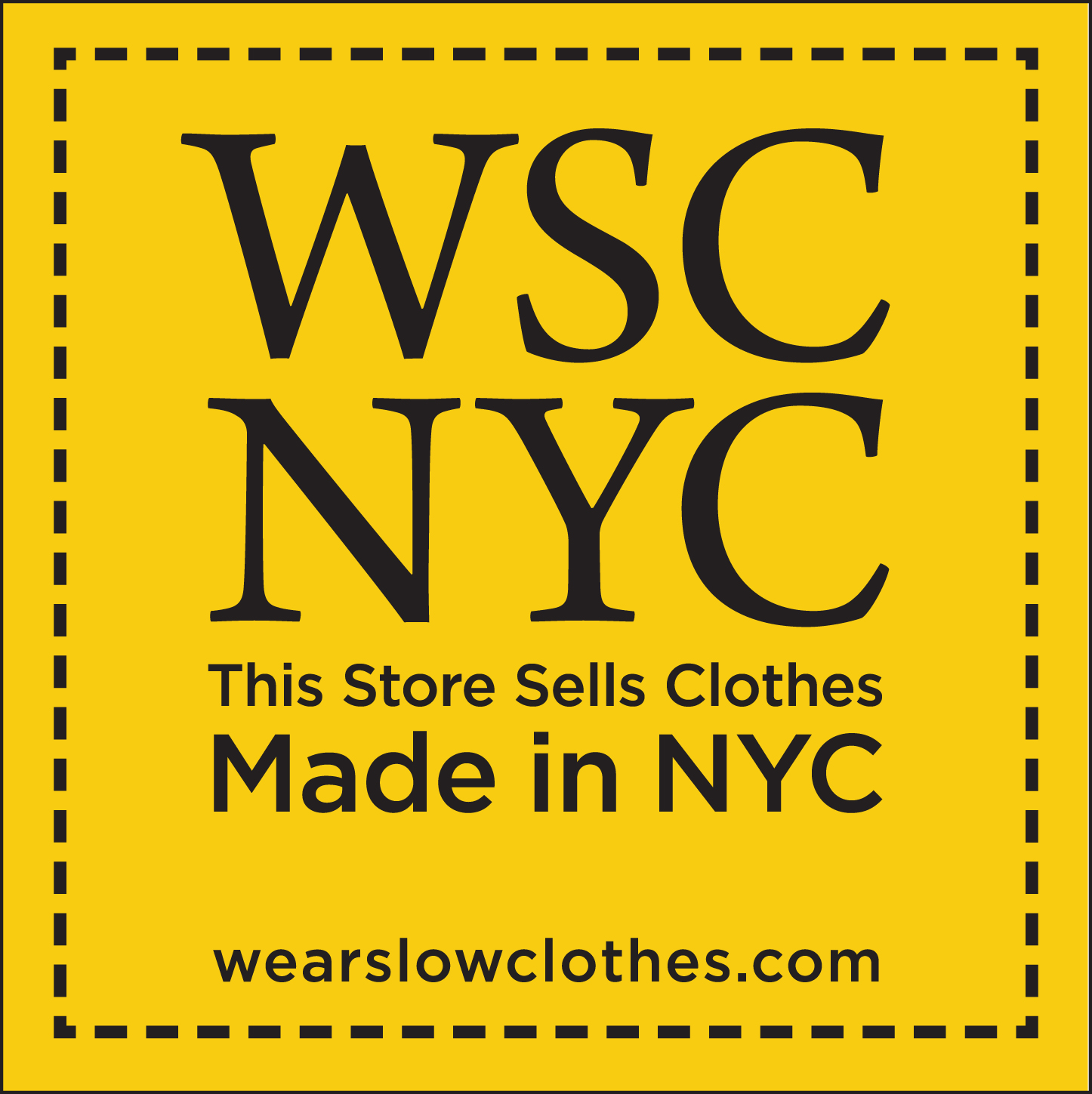 Wear Slow Clothes NYC