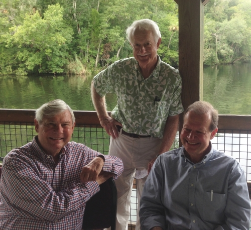 Bob Graham,  Former Florida Governor and U.S. Senator; Estus Whitfield, Senior Environmental Advisor to Governors Graham, Martinez, Chiles, MacKay and Bush; Manley Fuller, President of the Florida Wildlife Federation. Photo by Patrick Hamilton.