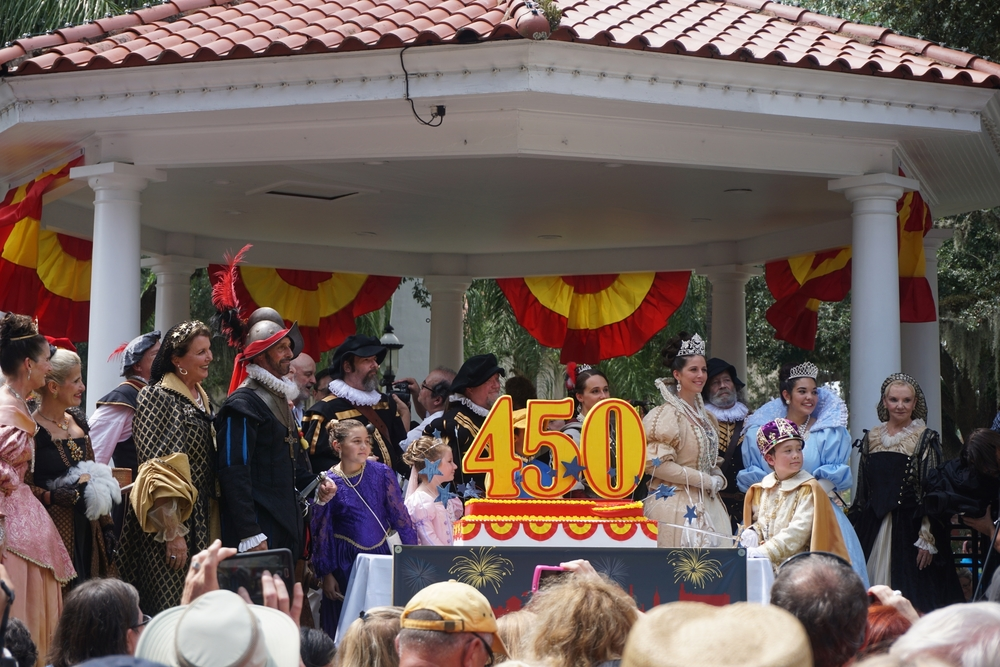 Cake-cutting ceremony with St. Augustine's Royal Family. Photo by Daniel Ward.