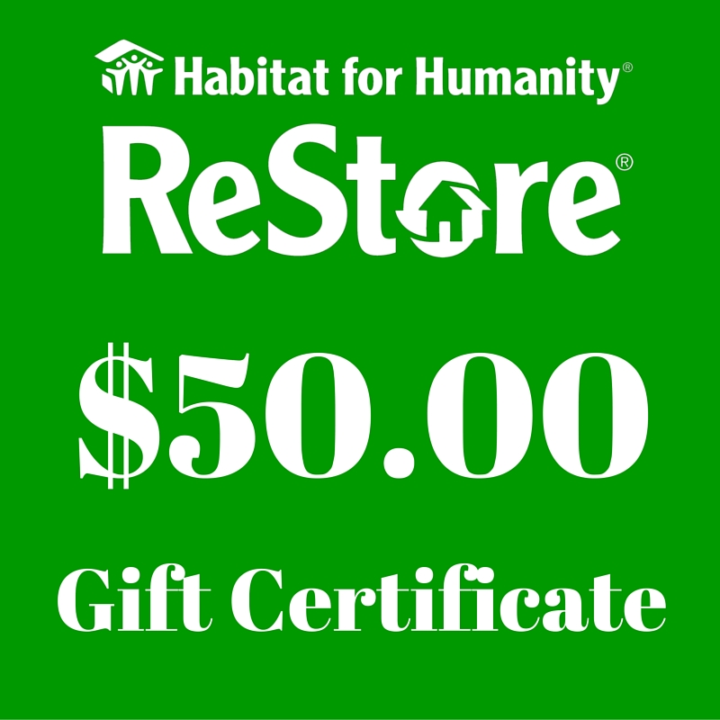 5000 Gift Certificate Habitat For Humanity Restore
