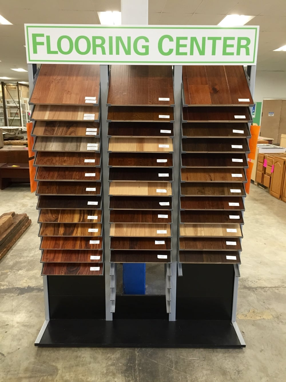 flooring center display