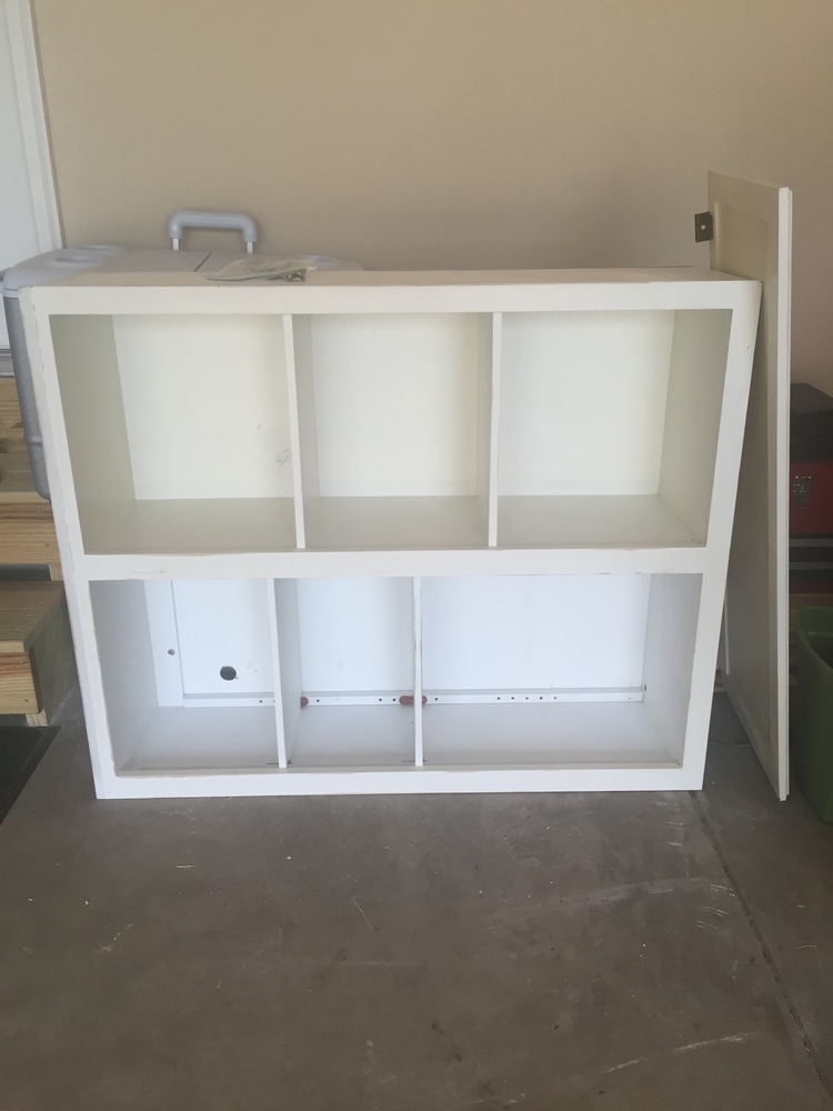 DIY Turn an Old Cabinet into a Storage Unit for your dog
