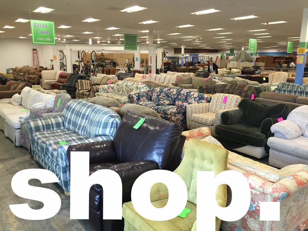 ... Are In Need Through The Sale Of New And Gently Used Furniture,  Appliances, And Building Materials; While Promoting Environmentally  Friendly Practices.