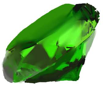 """Day 29 """"The meaning of your name"""" HA! My name is super literal! No abstract concept like """"She who is most loved by God"""" for me to illustrate! Just a big green rock."""