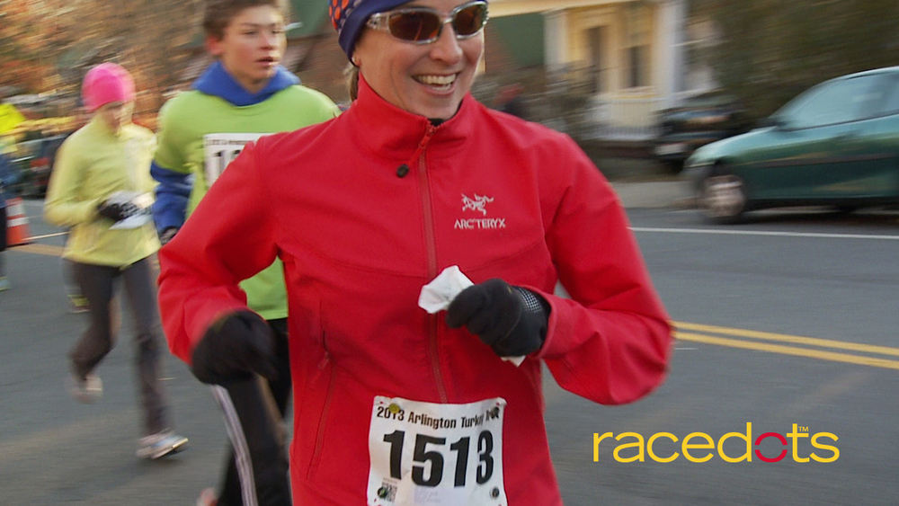 """I'm thankful I can run in my favorite GoreTex™ jacket and not worry about holes from safety pins!"" -Jackie, Product Testing, Arlington Turkey Trot"