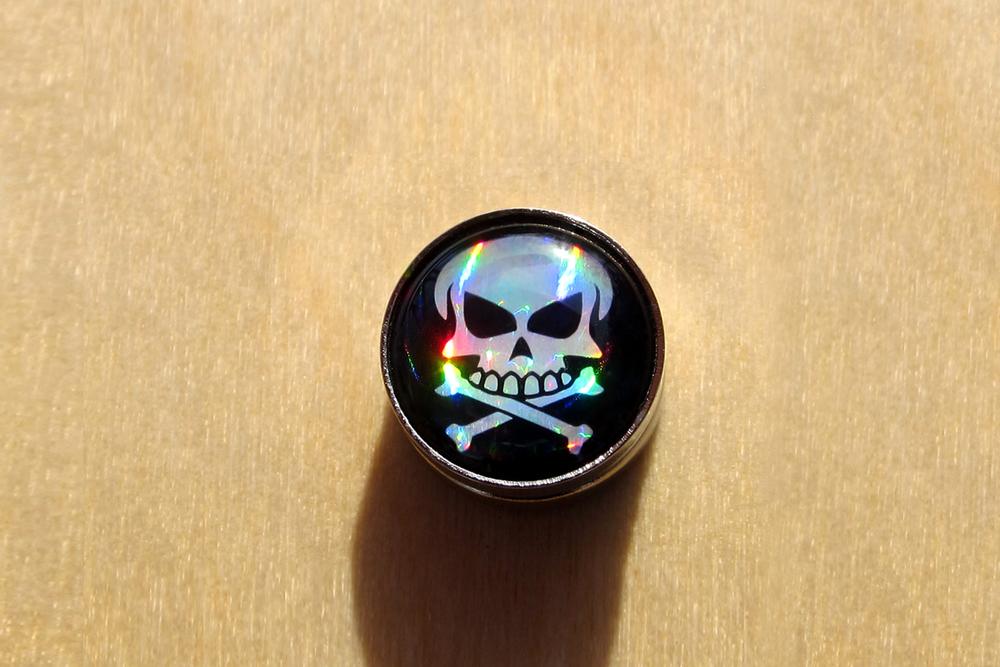 RaceDots Black Pearl Skull Magnet
