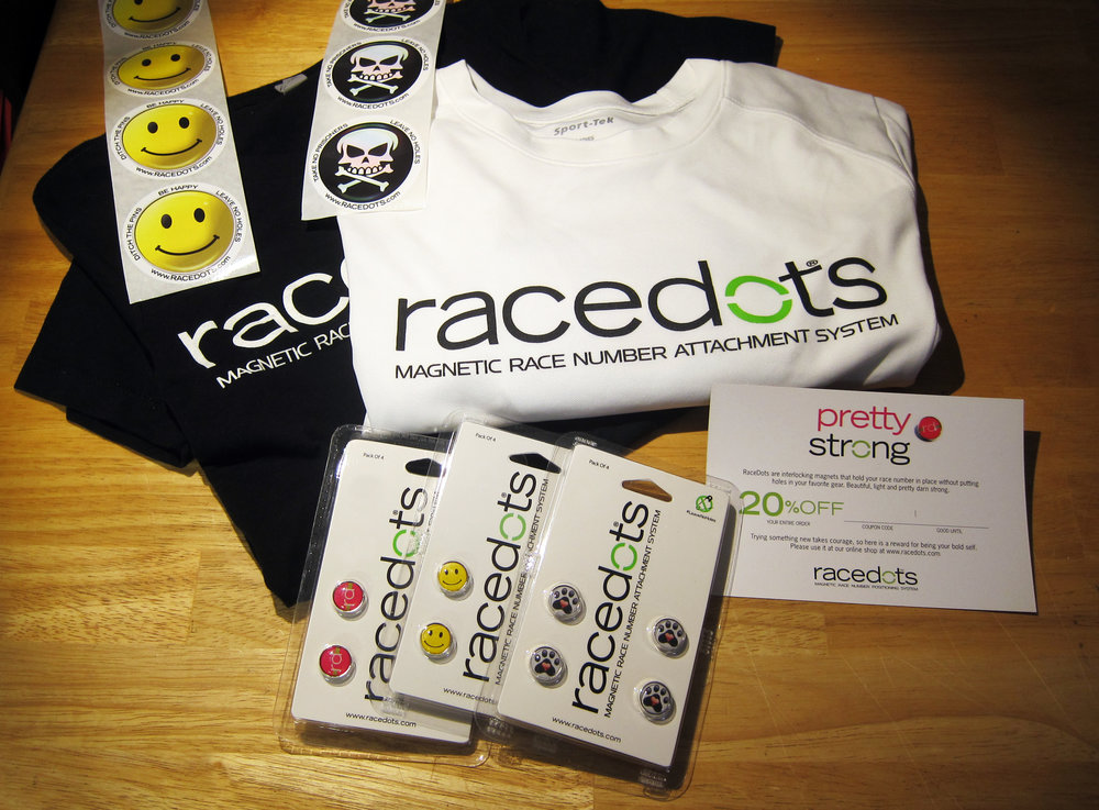 **Runners and Cyclists! Be a RaceDots Ambassador!** We are selecting 20 people, you will get free product, a t-shirt and discount for your social media followers! You must be racing at least 5 times before Christmas and be active on social media. To apply e-mail info@racedots.com and tell us why you'd be a great ambassador! Selections made in 2 weeks (June 14)