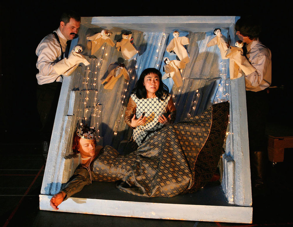 THE POLISH PLAY, SOHO REP, 2007. LUCAS CALEB ROONEY, JEFF BIEHL, EUNICE WONG, RYAN WARD. PHOTO: JAMES AMBLER.