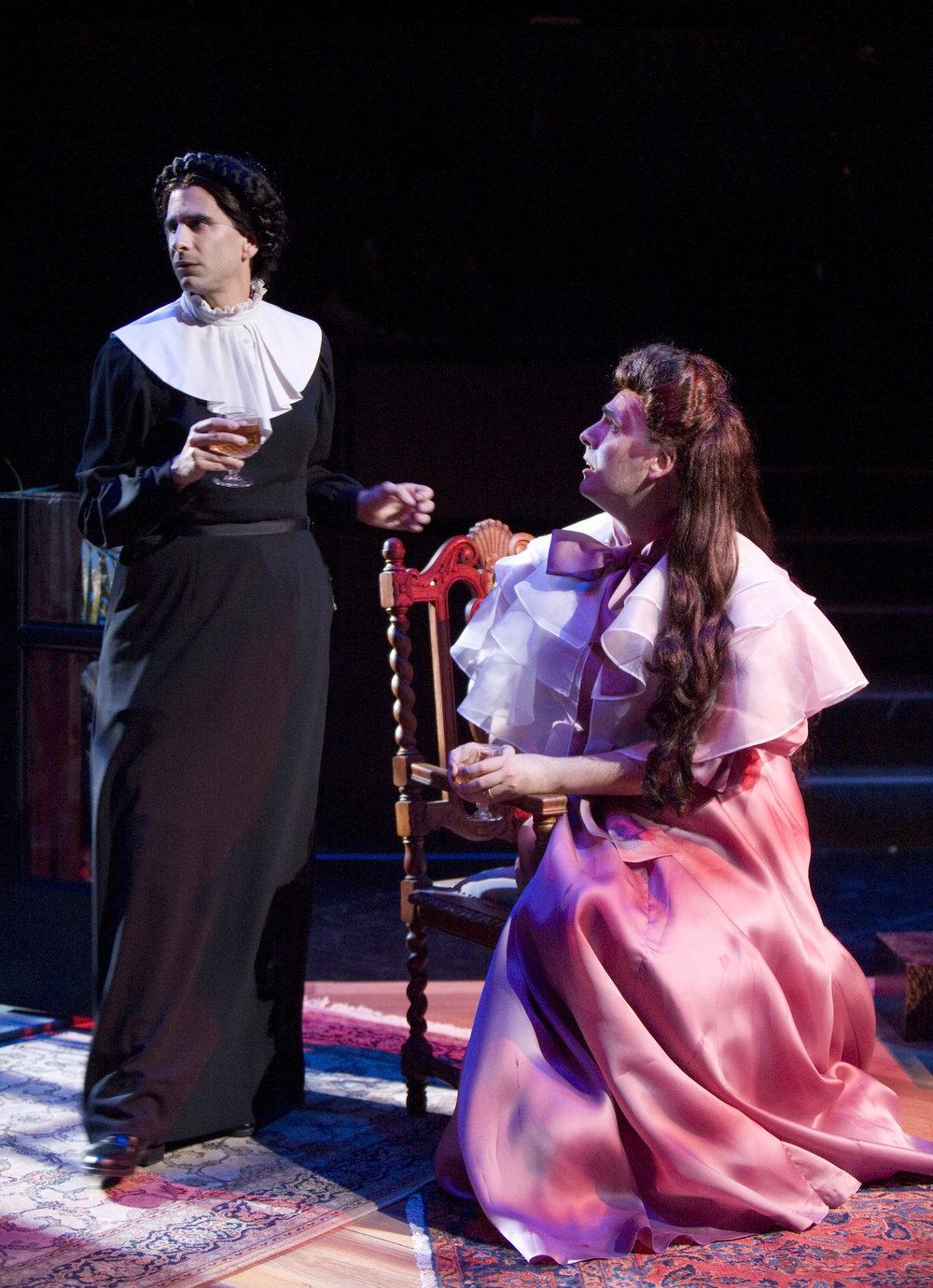 THE MYSTERY OF IRMA VEP. OLD GLOBE, 2009. JOHN CARIANI, JEFF BENDER. PHOTO: CRAIG SCHWARTZ.