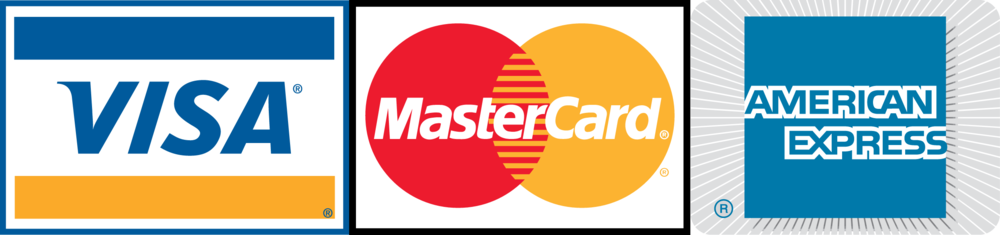 Visa, MasterCard and American Express are accepted