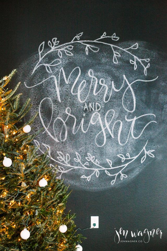 christmas-chalkboard-wall-calligraphy