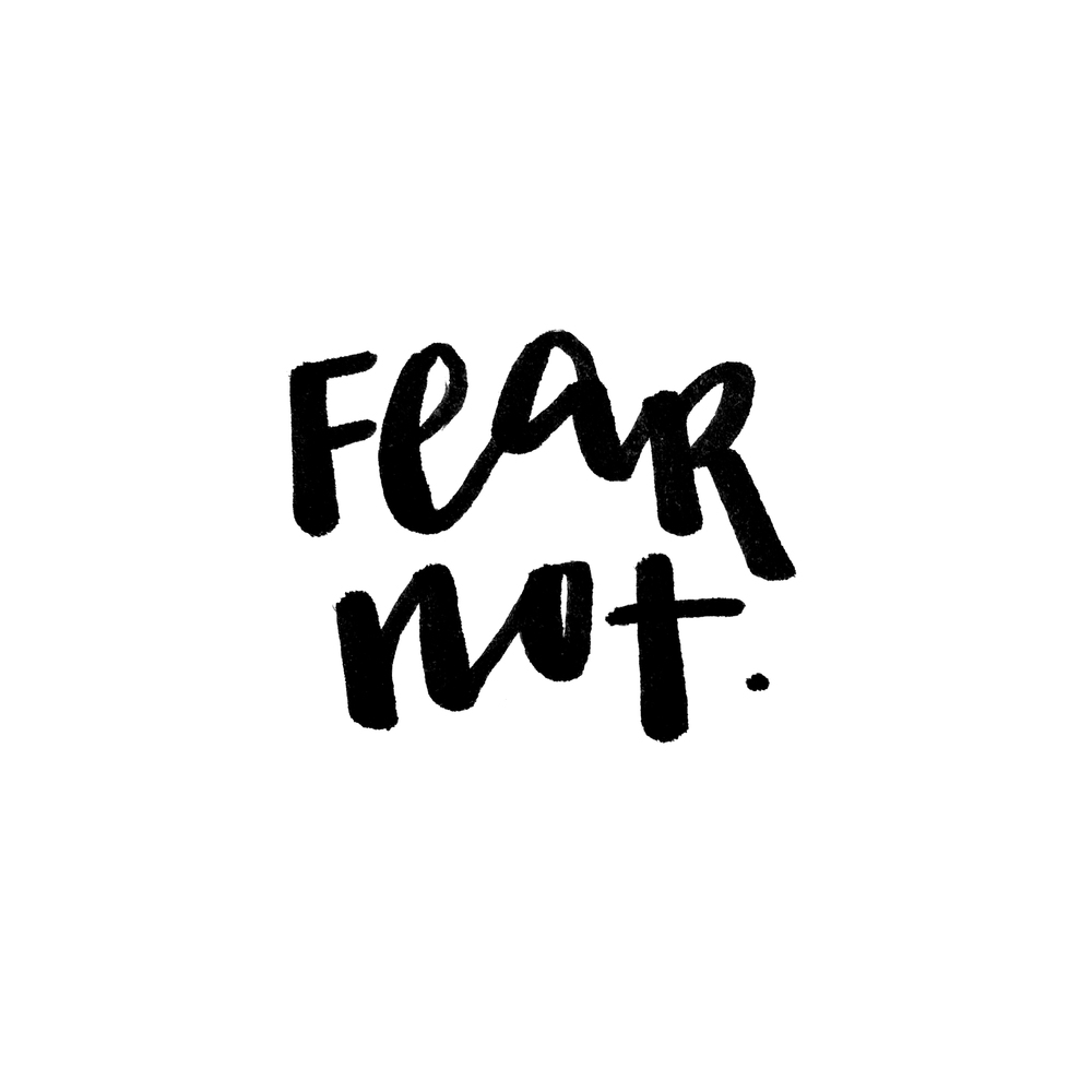 fear not watercolor calligraphy