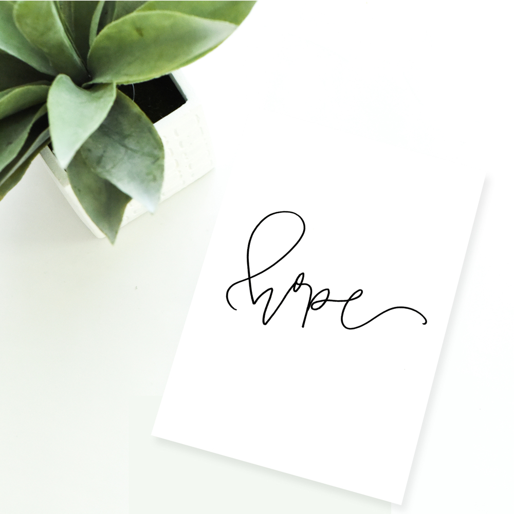 hope | free printable download hand lettering from jenwagner.co